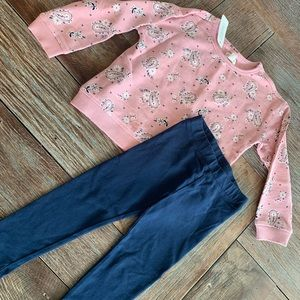 Nwt Gymboree pink bandanna sweatshirt w/leggings